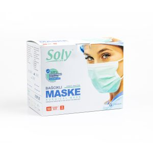 Bağcıklı 3 Katlı Meltblown'lu Cerrahi Maske 50'li paket